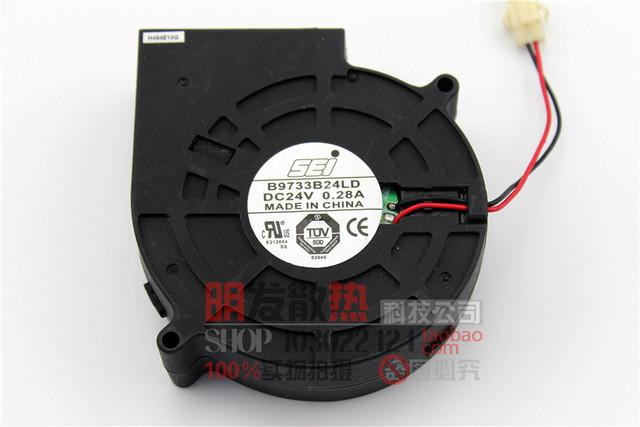 9733 24 V inversor fã 9.7 cm turbina ventilador centrífugo fan B9733B24LD
