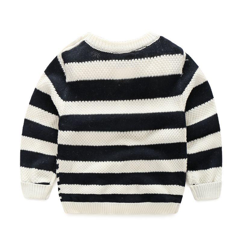 Knit Boys Sweater Striped Мақта Балалар Свитер - Балалар киімі - фото 4