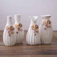 Ceramic Flower Vase Creative Chinese Floret Bottle Mini Vase Decoration Furnishing Articles