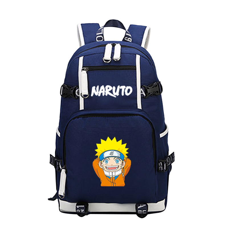 ФОТО High Quality Canvas Printing Backpack Anime Uzumaki Naruto Uchiha Sasuke Cosplay Military Backpack School Bags Mochila Feminina