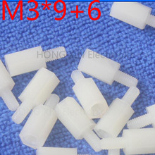 M3*9+6 white 1pcs 9mm Nylon Standoff Spacer Standard M3 Male-Female Kit Repair Set High Quality PC tool