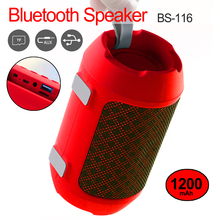 Outdoor Portable Wireless Bluetooth Speakers Mini Column Box Speaker Subwoofer Support TF card FM Stereo Built in MIC цена