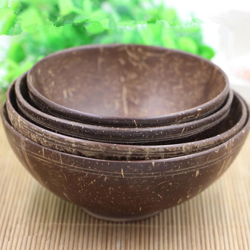 Coconut Shell Bowl Handmade Tableware Dinnerware Adult