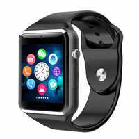 A1 relógio inteligente dos homens das mulheres unisex bluetooth esportes smartwatch pedômetro com câmera sim para o telefone android reloj inteligente