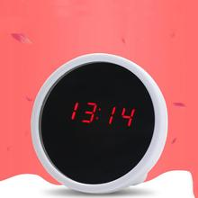 Mirror Surface LED Clock Night Light Electronic Alarm Clock Mini Desktop Clock Alarm Clock Time And Date Mirror Night Lamp
