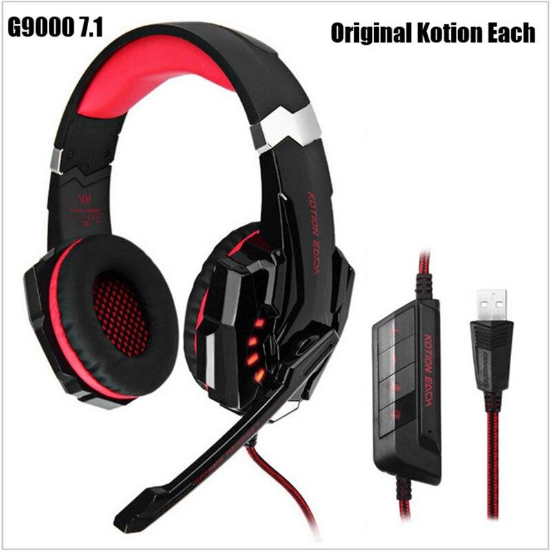 gamer headphones kotion each g9000 7 1 headset gamer casque audio dre dre headphones gaming. Black Bedroom Furniture Sets. Home Design Ideas