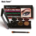 Music Flower Brand  3 Colors Makeup Eyeliner Gel And Eyebrow Poeder  Palette Brush Long-wearing Waterproof Eyes Cosmetic