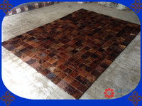 Fashionable art carpet 100% natural genuine cowhide leather persian rugs