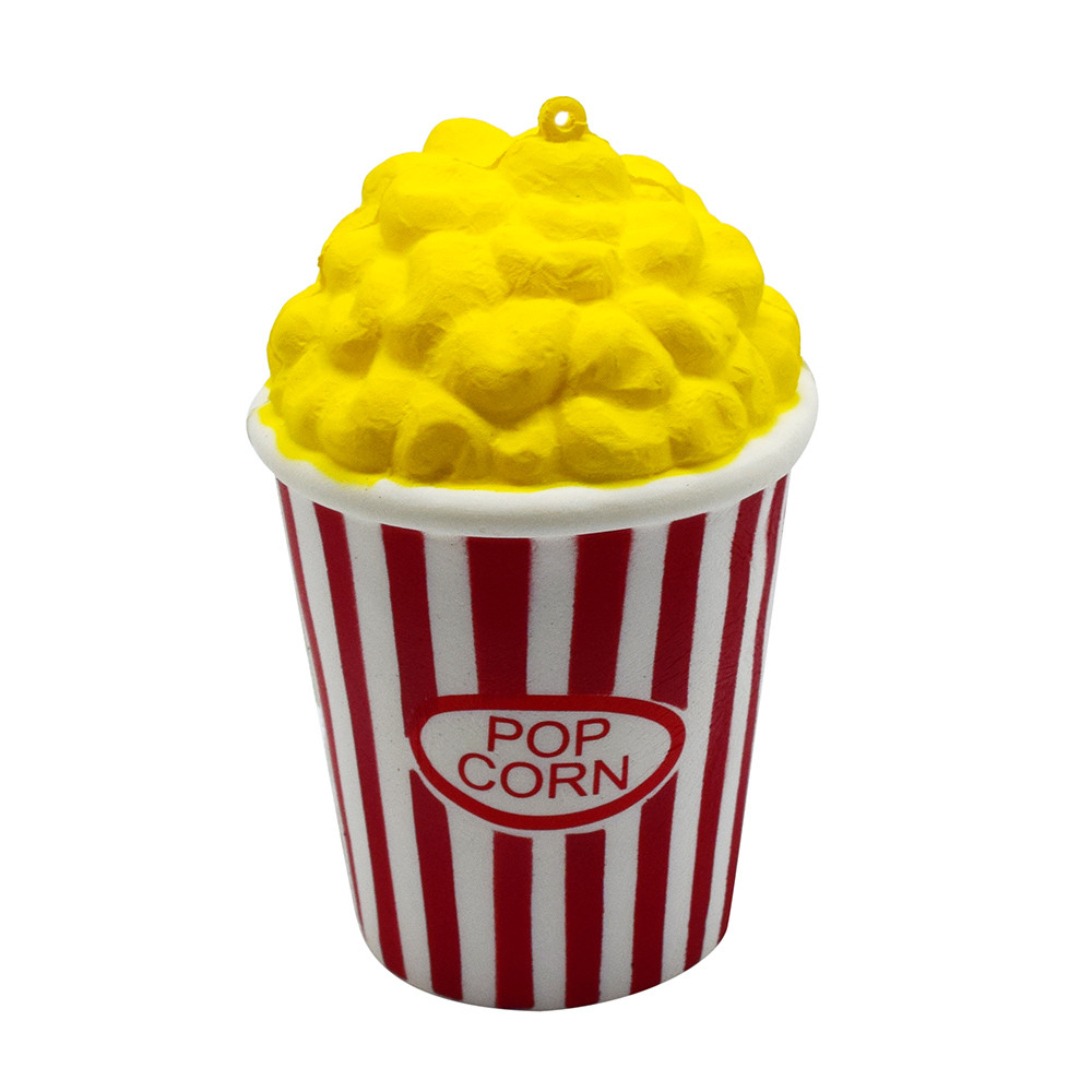 PU Popcorn Cup Squishy Slow Rising Decompression Easter Phone Strap Squeeze Toy Gift Toys Stress Relief Reliever W509