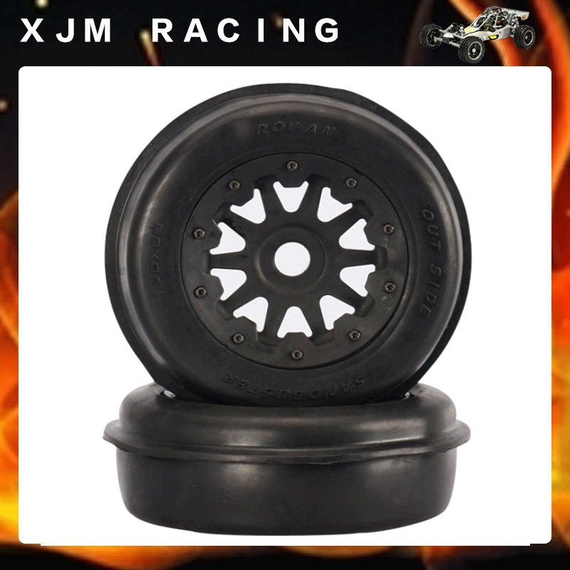 Rc Car Desert/Sand Front wheel tire (x 2pcs/set) for baja 5t/5sc front sand buster tyres tire set with nylon wheel 2pcs for baja 5b hpi km rovan