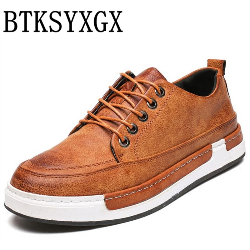 BTKSYXGS Men's casual shoes 100% Genuine leather 2017 New Spring Autumn fashion Comfortable Breathable/38-48 Men flats shoes Man top brand high quality genuine leather casual men shoes cow suede comfortable loafers soft breathable shoes men flats warm