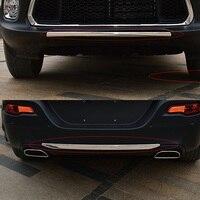 Front & Rear Lower Bumper Lip Capa Para Jeep Cherokee 2014 2015 2016 2017 Chrome Protetor Trim Moldagem Decore Acessórios