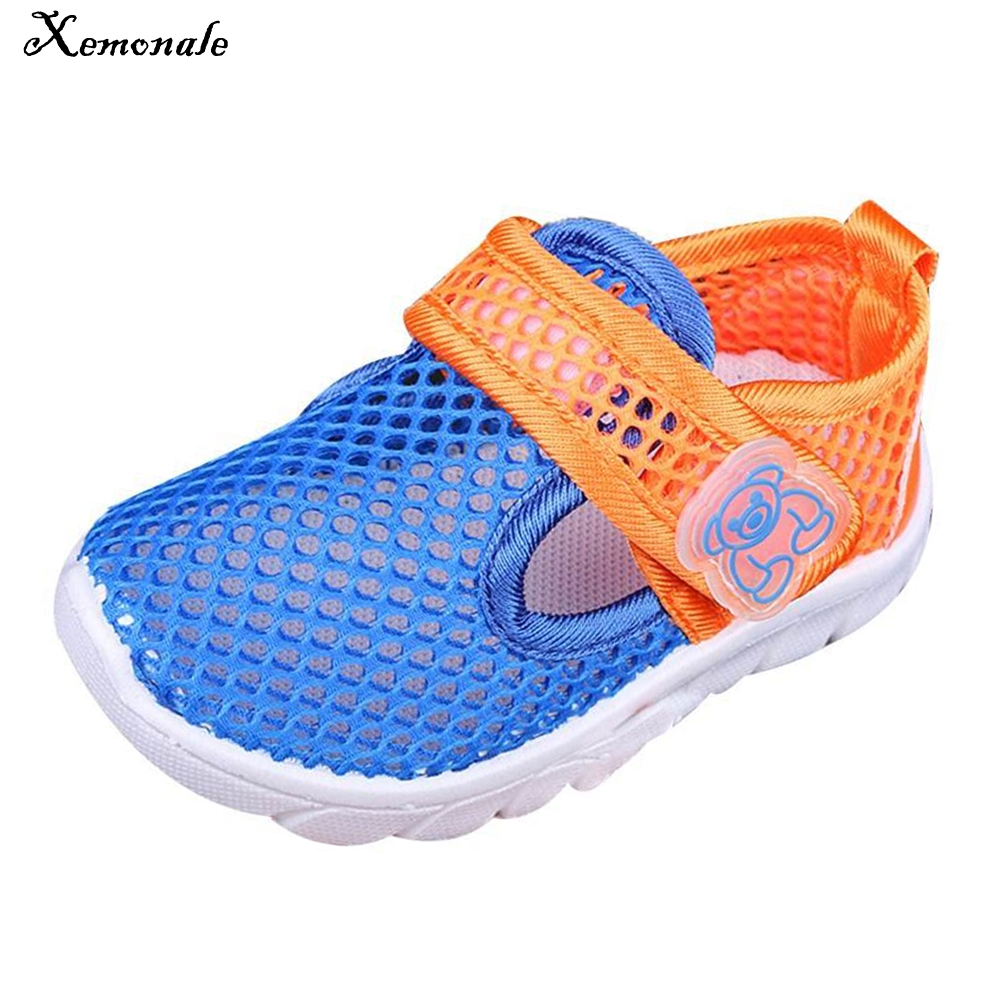 Xemonale Children Shoes Girls Boy Casual Shoes Summer Fashion Candy Color Breathable Mesh Kids Sandals Shoes Boys Girls Sneakers