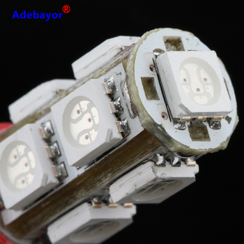 500X T10 9 SMD 5050 led Car 194 W5W reading door corner turn signal light instrument lamp Wedge Interior clearance Bulbs 7 color