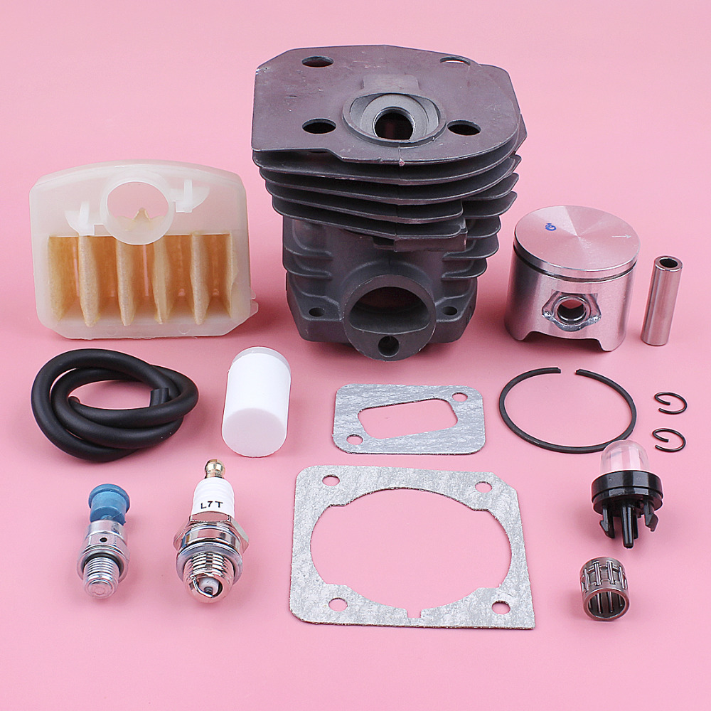 44mm Cylinder Piston Kit For Husqvarna 350 351 353 346XP Air Fuel Filter Line Decompression Valve Chainsaw Replace Spare Part