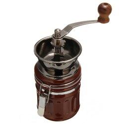 Nueva herramienta de molienda Manual de cerámica de acero inoxidable Retro molinillo de granos de café