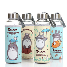 Cute Anime Totoro Children's Plastic and Glass Water Bottle