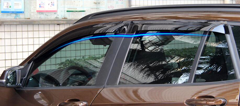 Window Visor Deflector Sun Rain Guard Shield  4pcs For BMW X5 F15 2014 2015 4pcs blade side windows deflectors door sun visor shield for toyota verso ez 2011 2014
