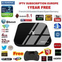 A95X Plus Android 8.1 TV Box Amlogic S905 Y2 4GB DDR4 32GB ROM 2.4G /5G WiFi USB3.0 BT4.2 Support IPTV 4K H.265 Media Player