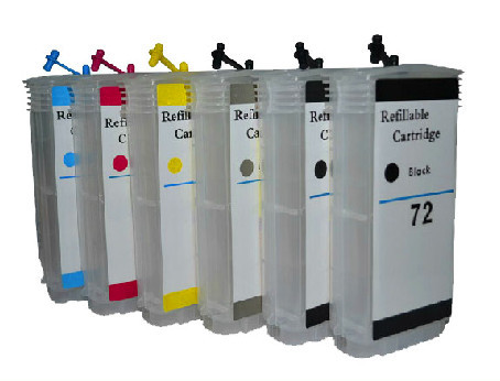 1set free shipping  refillable ink cartridges for HP 72 With Chip ink cartridge  for hp t610 chip office school supplies chip for risograph duplicator c3050 chip solid ink photo free shipping