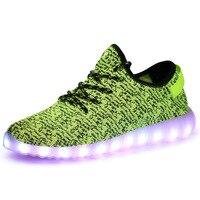 Светодиодный обувь светодиодный свет повседневная обувь мода Для мужчин освещенные обувь для 2018 Новое поступление суперзвезда Для мужчин