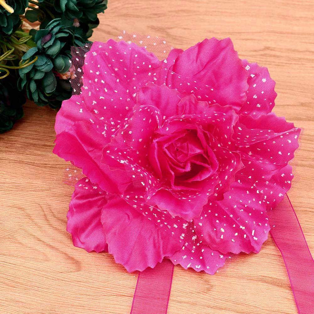1PC Flowers Curtain Clip Best Peony Flower Curtain Clip-on Tie Backs Holdback Tieback Holder Panel For Living Room Bedroom 2018