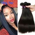 Сексуальная Формула Волосы Перуанский Прямо 4 Пучки Bling Волос 8A Прямые Человеческие Переплетения Волос Пучки Несравненный Перуанский Прямые Волосы