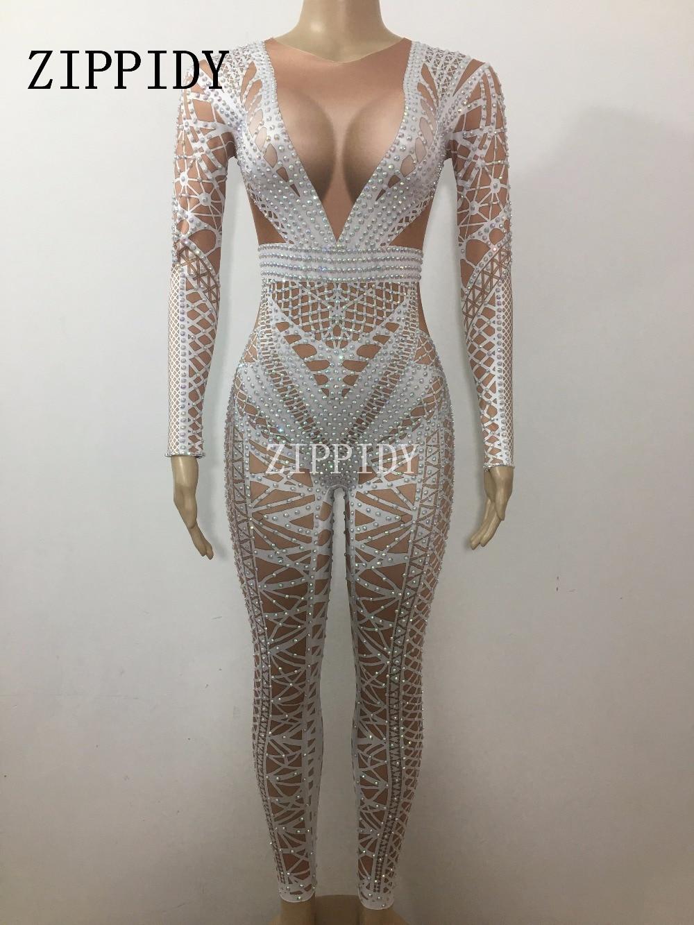 ผู้หญิงแฟชั่น Jumpsuit เครื่องแต่งกาย   ชิ้นไนท์คลับเต้นรำผ้าพันคอพิมพ์ชุดปาร์ตี้ฉลองสวมใส่-ใน จั๊มพ์สูท จาก เสื้อผ้าสตรี บน   3