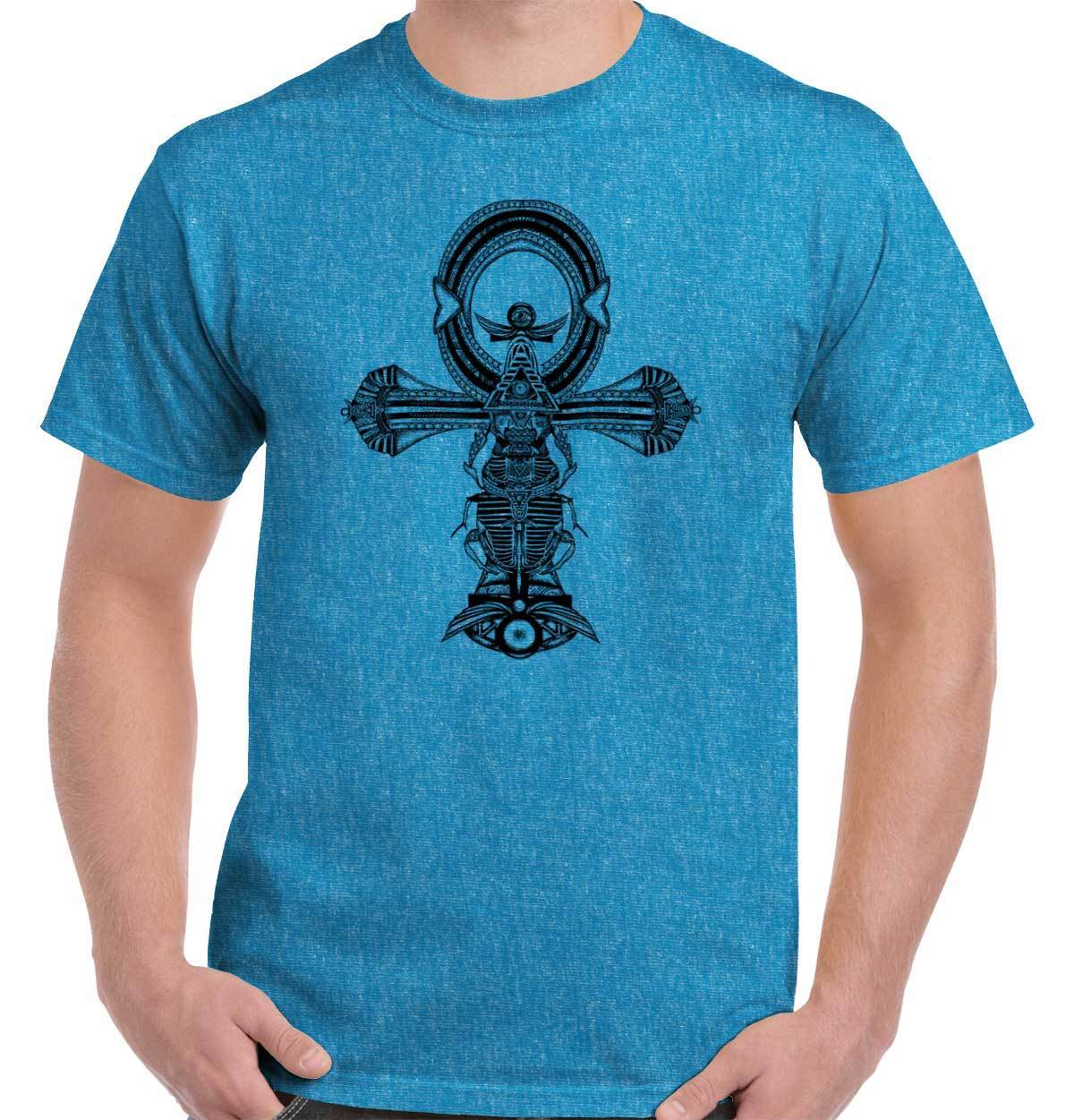 Ankh Cross Mystic Shirt | Spirit Animal New Age Mystery Life T Shirt Short Sleeve Fashion Summer Printing Casual