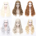 long length Daenerys Targaryen Cosplay wigs kinky curly, imported high temperature synthetic hair wigs comfortable net