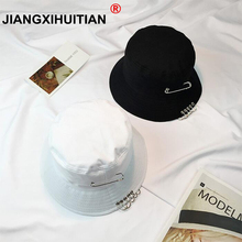 Ring-Bucket-Hats Fisherman-Hat Hip-Hop Men's Women Gorro Pescador