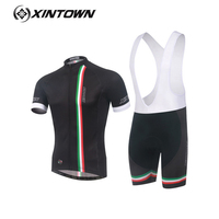 XINTOWN 2017 Italy suspender Cycling Set For Unisex Breathable Quick-drying S Sleeve Fitness Suit Hot Wicking Sportswear 16