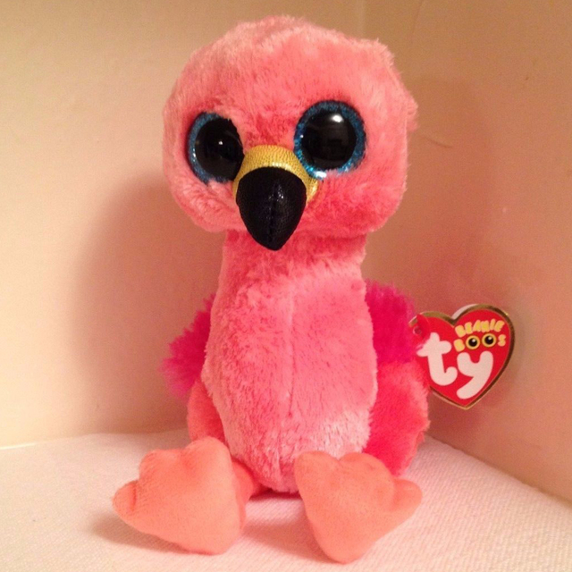 0b0add450a9 Pyoopeo Ty Beanie Boos 6″ 15cm Gilda Pink Flamingo Plush Regular Soft  Stuffed ...