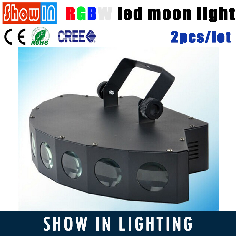 RGBW CREE LED Beam Scanner Light Moon Flower 8*3W DMX512 DJ Disco Party Wedding Stage Lighting Effect Project 230V Free Shipping