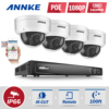 ANNKE 8CH HD 2 0MP 1080P NVR PoE IP Network WDR Outdoor Security Camera System