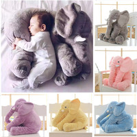 New Hot Sale Free Shipping Colorful Giant Elephant Stuffed Animal Toy Animal Shape Pillow Baby Toys