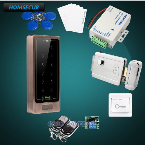 HOMSECUR Waterproof Wiegand 26/34 Anti-Vandal 125Khz RFID Access Control System+Backlight new arrival metal case anti vandal 125khz rfid keypad access control wiegand 26 input