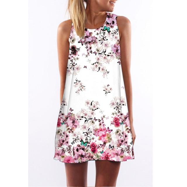 23 Types Multi Size Summer Fl Print Style Women Dress New Fashion O Neck Sleeveless