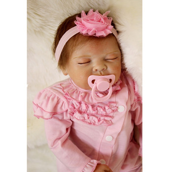 2018 New Arrival 22inch 55cm Silicone Baby Reborn Dolls Babies Bebe Reborn Babies Toys for children Gifts Juguetes Brinquedos fashion dollmai bebe reborn dolls 3 4 silicone babies 58cm very beautiful girl for children xmas gifts realistic simulation toy