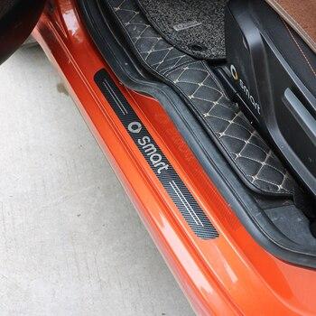 2 pezzi pedale porta in acciaio inox trim Per Smart Fortwo 453 451 protezione decorativi adesivi per auto accessori di modifica dell'automobile