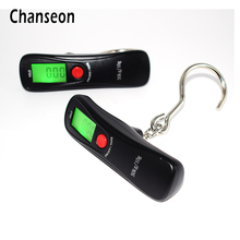 Chanseon 50kg x 10g Mini Portable Electronic Scale Weight Luggage Scale Digital Travel Hanging Hook Digital Pocket Weighing