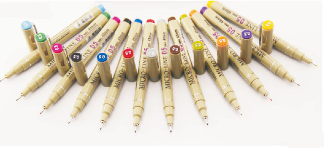 free shipping 12 color technical drawing pen pigma micron ink pen