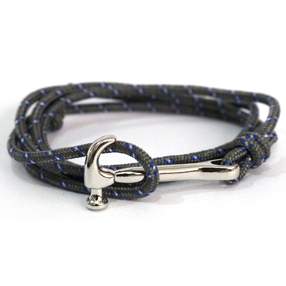 e77f9cdedc6e Fashion Hammer Bracelets Men Charm Survival Rope Chain 3mm Paracord ...
