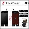 10 pcs aaa qualidade no dead pixel para iphone 6 lcd display lcd e de toque digitador da tela para iphone 6 montagem