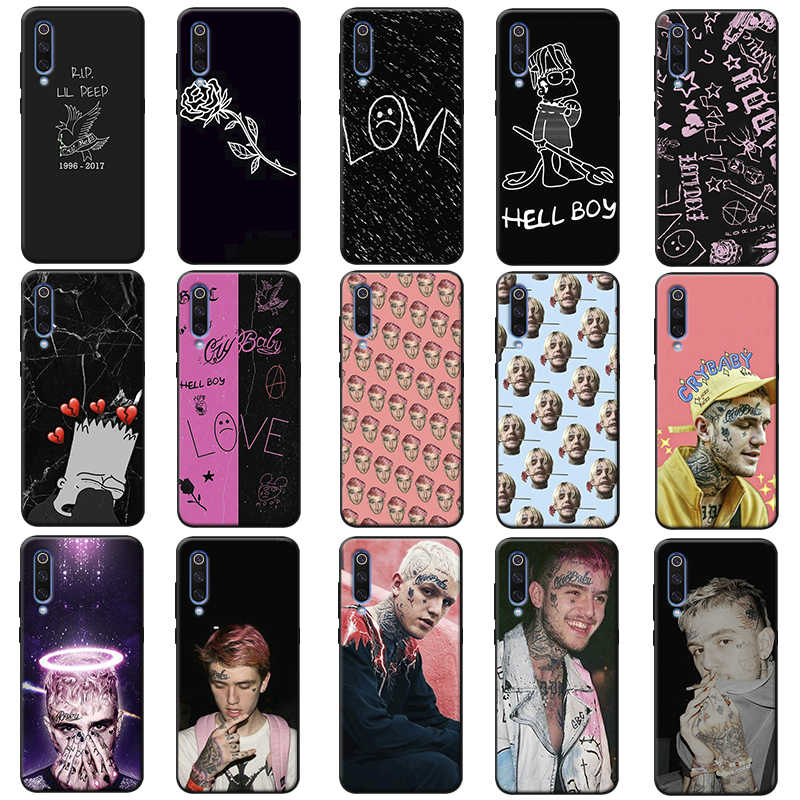 Rap Singer Lil Peep hellboy Life Cry Baby hard  Soft Silicone Phone Case for samsung galaxy a50  a70 a30 a40 a20 s8  s9 s10 plus