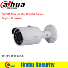 Original DAHUA 3MP IP camera IPC-HFW1320S Bullet IR 30M 1080P Waterproof outdoor full HD POE CCTV Network camera can be updated