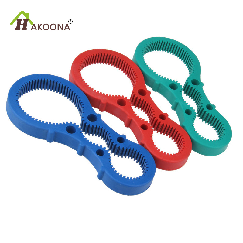 HAKOONA 3-in-1 Multi Opener  Kitchen Rubber Elastic  Rubber Convenience Multi-Function Jars/Bottles Can Opener