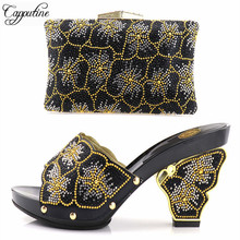Capputine Africa Ladies Matching Shoes And Bag Set Hot Sale Italy Shoes And Bags Set For Party Women Shoes And Bag Set On Sale