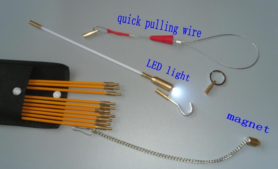 pręt kanałowy z ramą wózek ściągacz kabla popychacz popychacz - Zestawy narzędzi - Zdjęcie 2