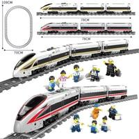 New KAZI City Electric Revival Train Tracks Rail Power Function legoing Technic Creator Building Blocks Bricks Toys For Children